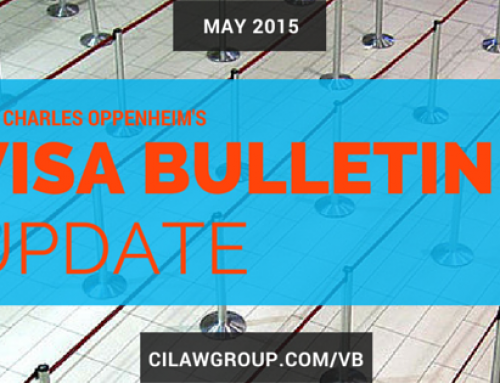 Visa Bulletin Updates from Mr. Charles Oppenheim (May 2015)