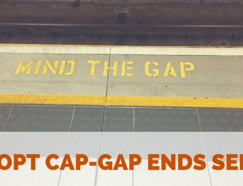 Reminder:  OPT Cap-Gap Employment with Pending H-1B Valid Only Until September 30th