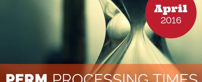 PERM processing times April 2016