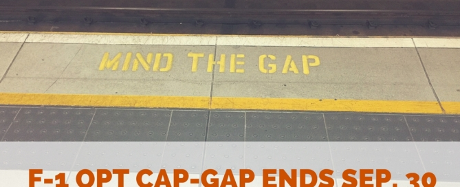OPT Cap-Gap Valid Until September 30