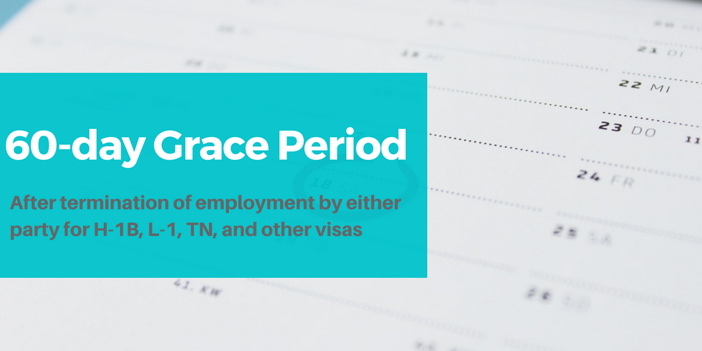 USCIS Creates 60-day Grace Period Following Termination of