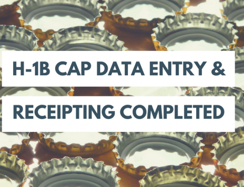 USCIS Completes Data Entry and Receipting of H-1B Cap Petitions for FY2018