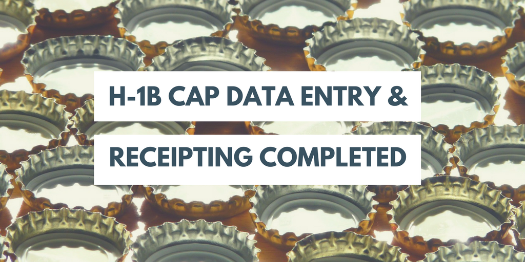 H-1B cap data entry completed