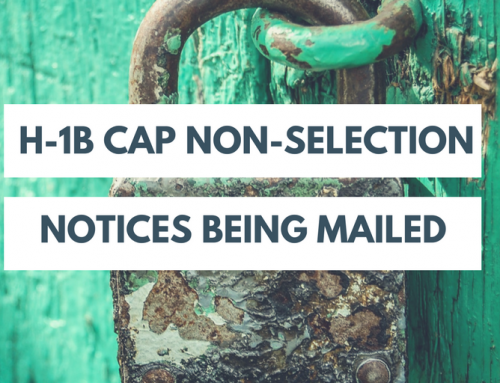 USCIS Starts Mailing H-1B Cap Non-Selection Notices
