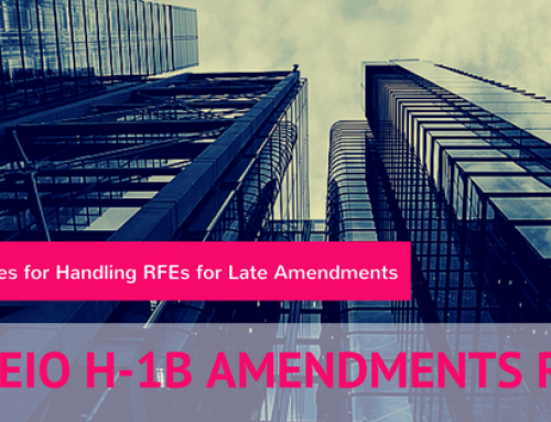 "Simeio RFEs:  How to Handle ""Simeio"" RFE Due to Late H-1B Amendment Filing?"
