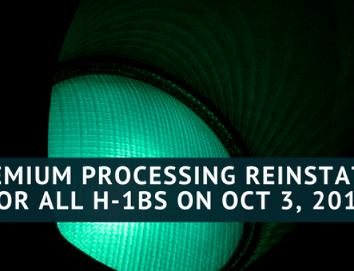 Premium Processing Reinstated for All H-1B Cases as of October 3