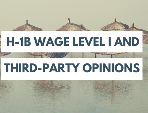 Wage Level I RFEs:  How Helpful are Third-Party Professor Opinions?