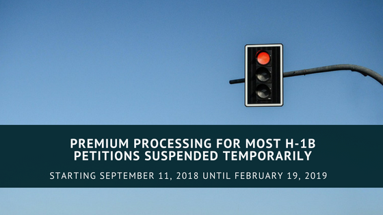 USCIS Temporarily Suspends Premium Processing of Most H-1B Petitions