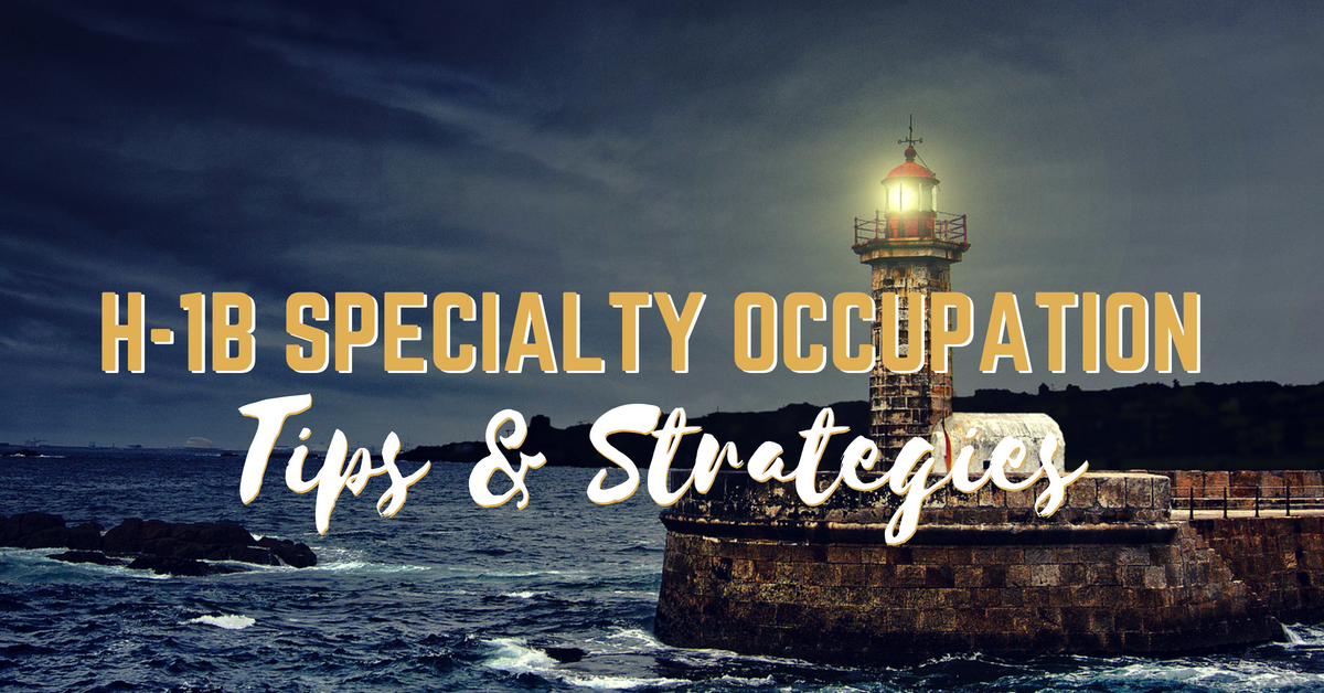 How to Handle Specialty Occupation H-1B RFEs? - Capitol Immigration